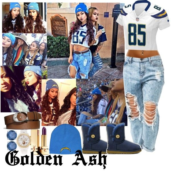 """""""San Diego Chargers Game"""" by fashionsetstyler on Polyvore"""