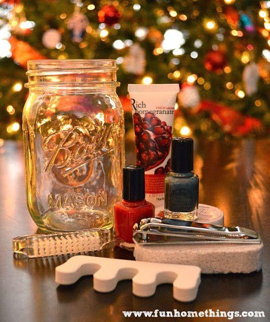 so cute! homemade gift ideas--pedi in a jar
