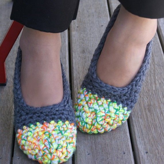 crocheted house shoes -so cute!