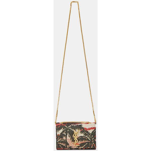 Saint Laurent Pre SS16: Saint Laurent Woven Hawaii Palm Clutch Bag (4.697.125 COP) ❤ liked on Polyvore featuring bags, handbags, clutches, purses, black, yves saint laurent, palm tree purse, man bag, handbag purse and yves saint laurent purse