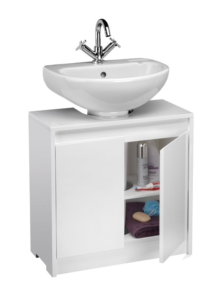 Croydex Irwell Unfold N Fit Under Basin Storage Unit, High Gloss White: