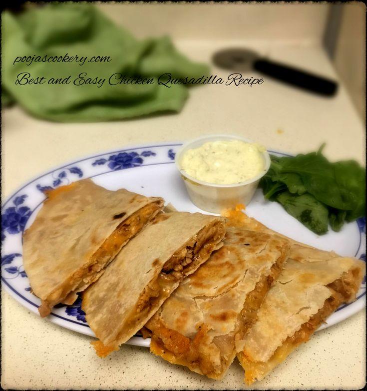 Best and Easy Chicken Quesadilla Recipe