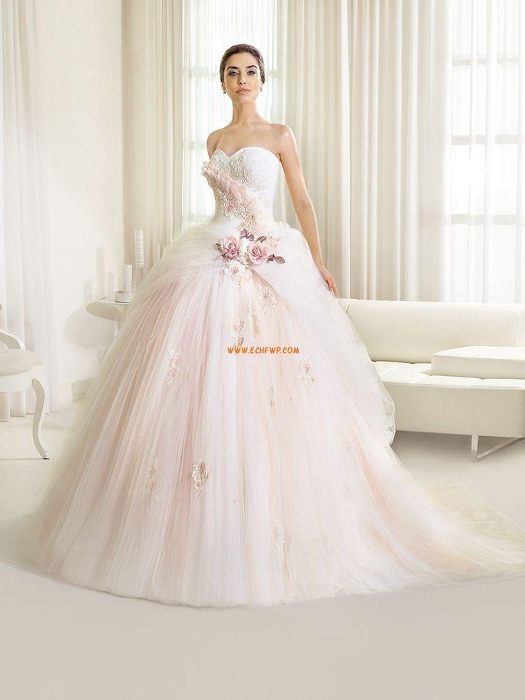 Barrer / cepillo tren Pera Moderno Vestidos de novias 2014