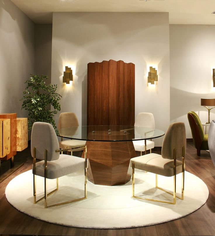 INSIDHERLAND dining area at #maisonetobet with the imposing Navajo Canyon cabinet designed by Joana Santos Barbosa. www.insidherland.com #cabinet #walnut #furniture #exclusive