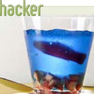 Fish bowl jello shot!! Gilly this could be fun?!?