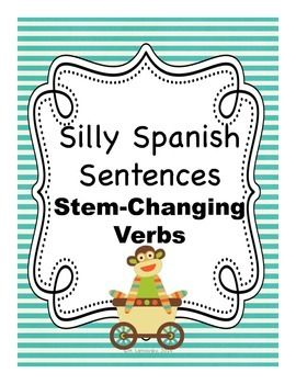 Spanish stem changing verb writing activity - my kids loved this