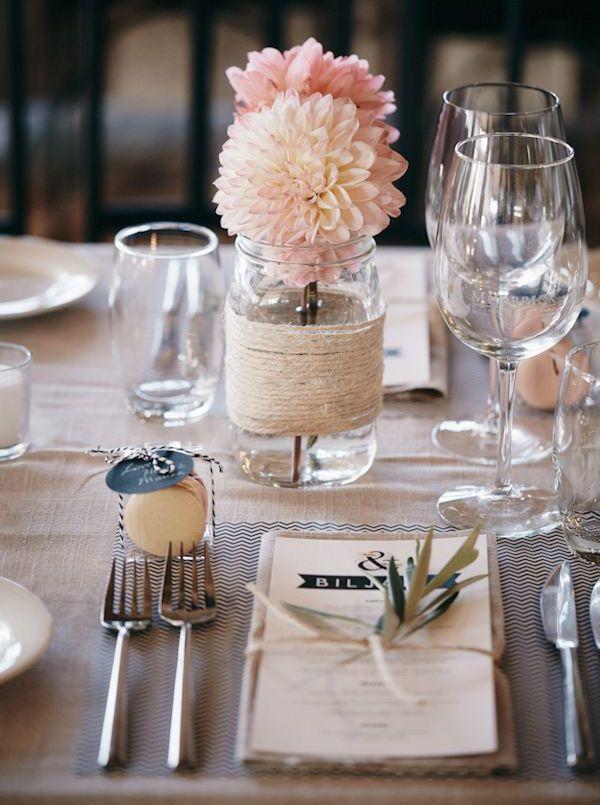 #Mariage : 10 idées de #décorations de tables vues sur #Pinterest