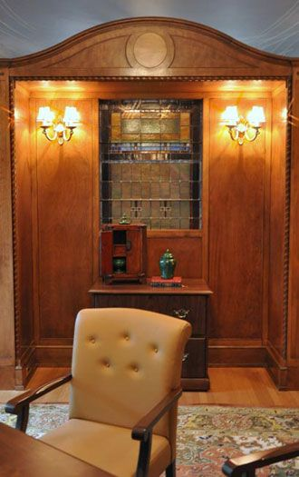 Malo Mansion Denver CO Justice Side Guest Seating In Private Office