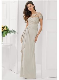 Central Coast Floor-length Glorious Natural Waist Sweetheart-Neckline Lace Mother Of The Bride Dress