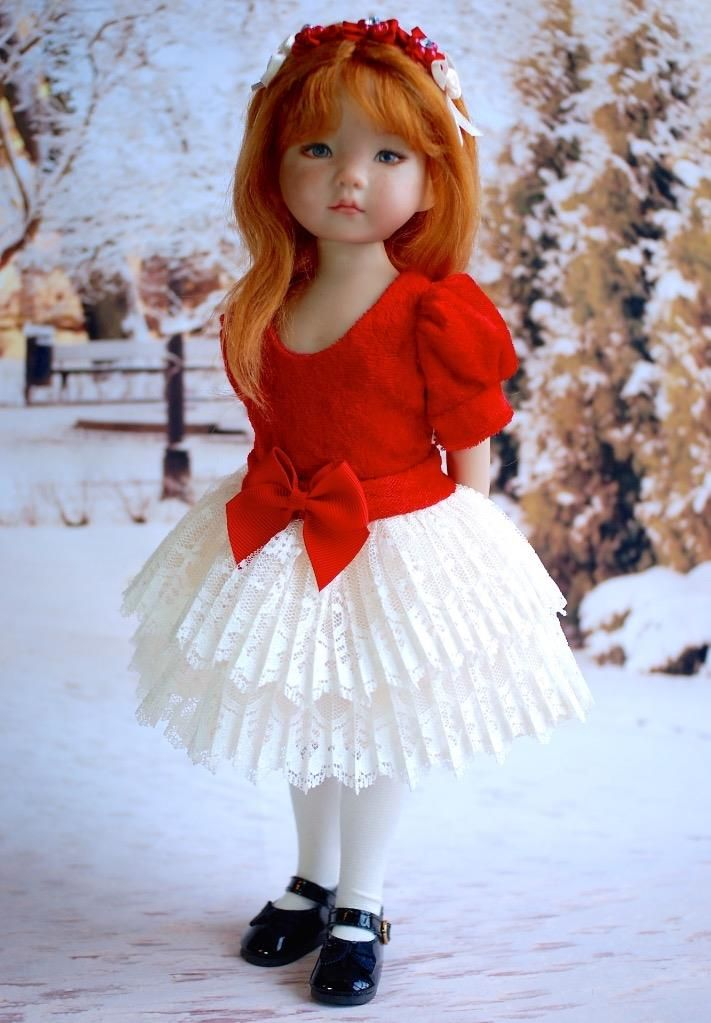 """~Christmas Party!~Holiday Dress for 13"""" Effner Little Darlings by Sharon"""