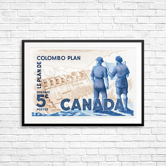100 best canada stamp art etsy images on pinterest canada blueprint art engineer gift etching print by canadastampart malvernweather Images