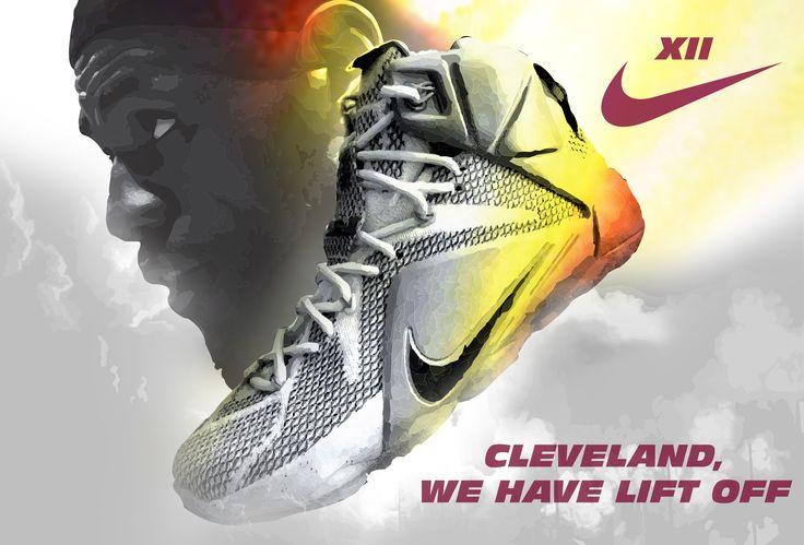 LeBron James - LeBron 12 Nike Sneakers -  Cleveland Cavaliers (Shoe Source Photo via solecollector.com & simon5302 on Instagram)