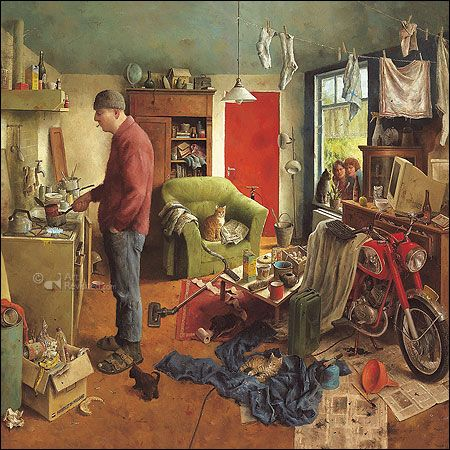 Marius van Dokkum | Kaarten - this would make a really great jigsaw puzzle!