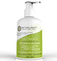 Retseliney Acne Face Wash & Oil Control, Acne Treatment for Face with 2% Salicylic Acid, for Teens, Adult & Hormonal Acne, Clear Blemishes & Acne Scars, Organic Facial Cleanser for Men & Women