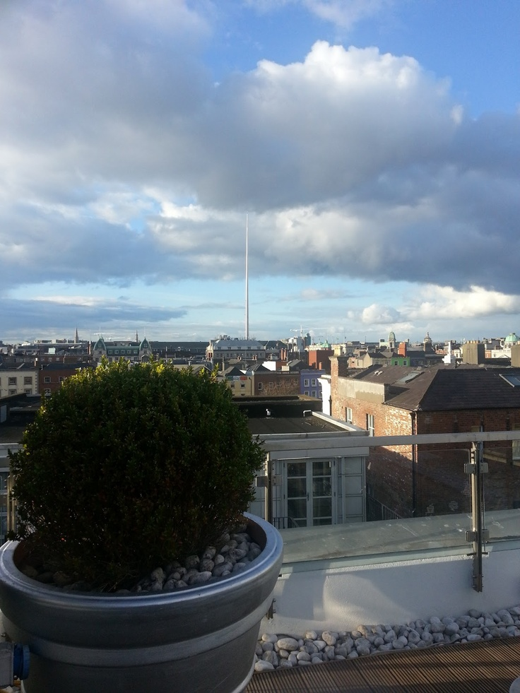 Dublin City from the roof of The Morgan Hotel