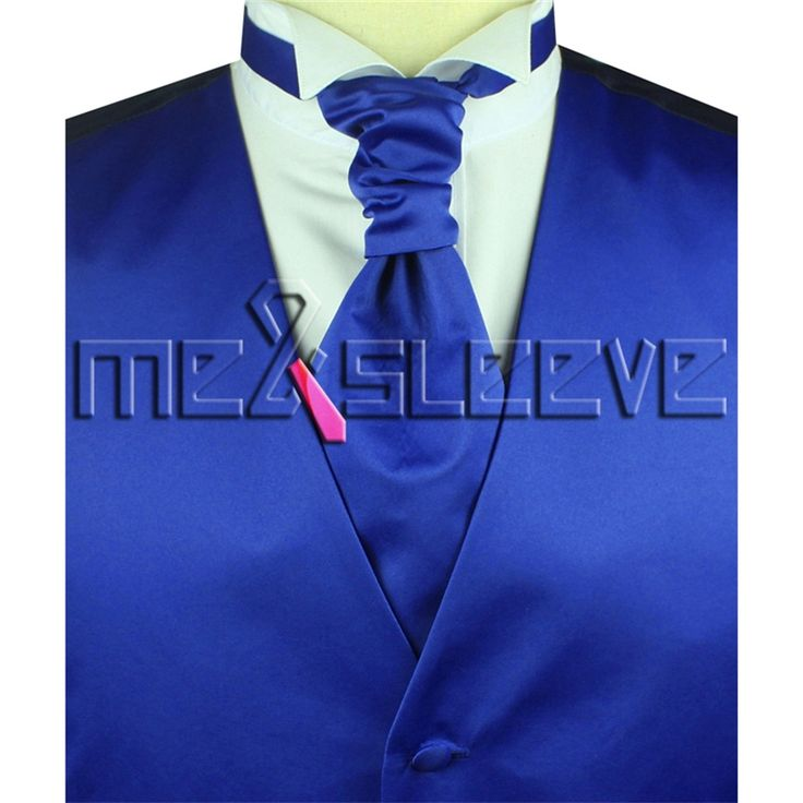 Wholesale cheap men's suits high quality bright blue waistcoat 4pcs (vest+necktie+bowtie+handkerchief)