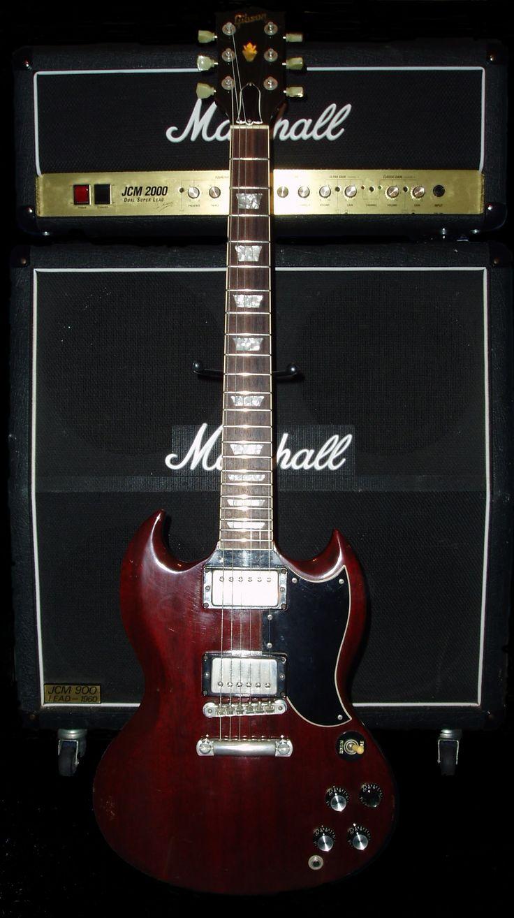 Gibson SG and Marshall amp