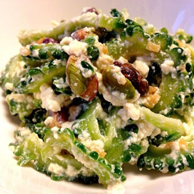 サラダ油は万病の元。レシピはDE-OILブログをご覧下さい。 http://deoil.blog.fc2.com/ - 6件のもぐもぐ - ゴーヤとピスタチオの豆腐和え by deoil518