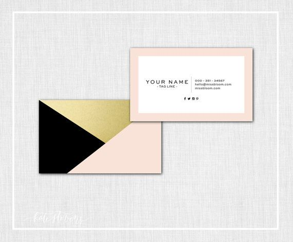 Modern Business Card Design  Black Blush & by KateStevensDesigns