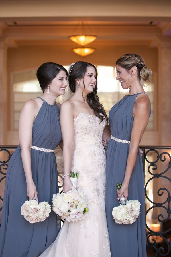 Adore these high neck bridesmaid dresses (Carrie Wildes Photography)