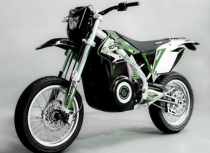 Elettra Motard, Green Version. 100% Electric. Green outside, Green inside. #electricmotorcycles #motorcycle #green #co2free