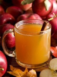 hot apple cider recipe - cider, lemon juice, brown sugar, nutmeg, cinnamon, cloves, allspice in crockpot 2-3 hours