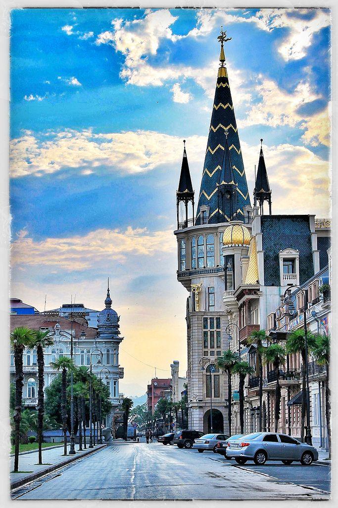 Batumi, Republic of Georgia. Batumi is a seaside city on the Black Sea.