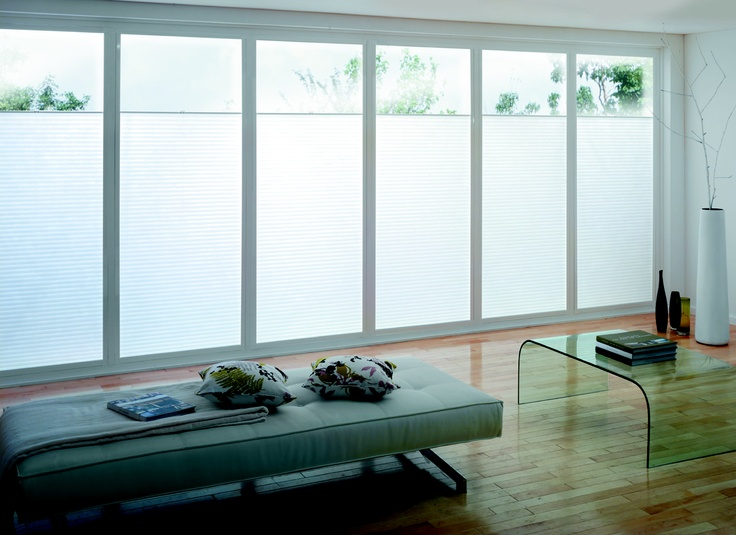 White Pleated Perfect Fit Blinds fitted to bi-fold doors. Pulling up from bottom to top - great when privacy is needed but still wanting light filtu2026 & White Pleated Perfect Fit Blinds fitted to bi-fold doors. Pulling ... pezcame.com