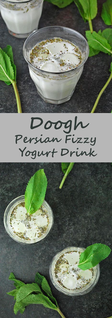 Doogh is a classic Iranian drink – refreshing, minty and bubbly! Perfect to cool you down or to wash down a heavy Persian meal.
