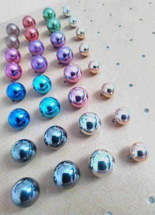 Kupuj mé předměty na #vinted http://www.vinted.cz/doplnky/nausnice/16204116-sada-16-paru-nausnic-kouli