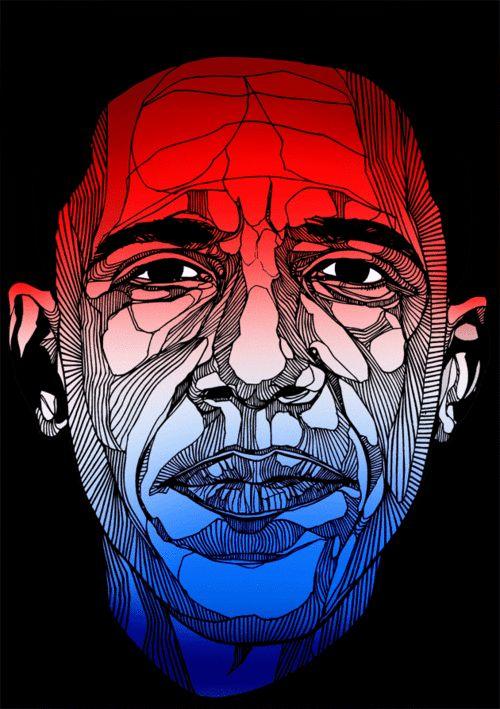 Obama sketch by Luke Dixon.