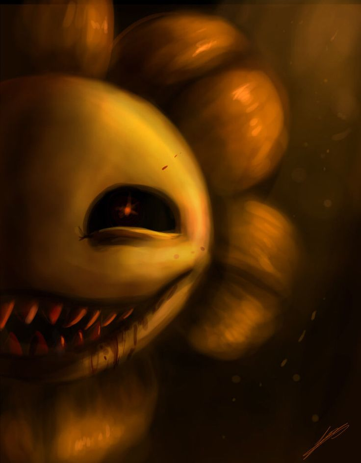 Oh Jesus Christ FLOWEY Y U SO SCARY! IT'S SO SCARY I CANT SAY UR SPOOPY CUZ IT SO SCARY