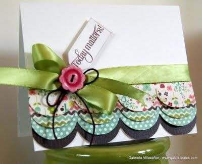 Love the scallops!: Cards Ideas, Cards Gener, Cards Stampin, Handmade Cards, Cards Not, Cards Tags, Cards 1, Cards Laying, Cards Handmade