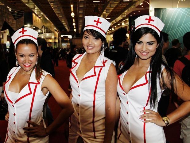 Gatas BGS - Brasil Game Show tem jogos e... muita mulher bonita: Ems Evento, Games Show, Babes, Meu Gadgets, Tem Jogo, Meus Sites
