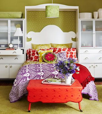 incredible hot pink orange bedroom | 17 Best images about Rooms - fabulous hot pink and other ...
