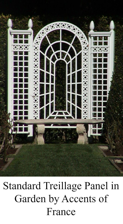 White Standard Lattice Panels In Garden.
