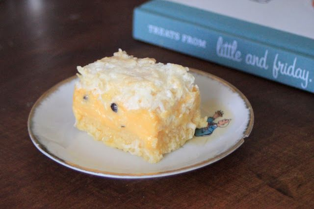 Little and Friday's Lemon Coconut Slice