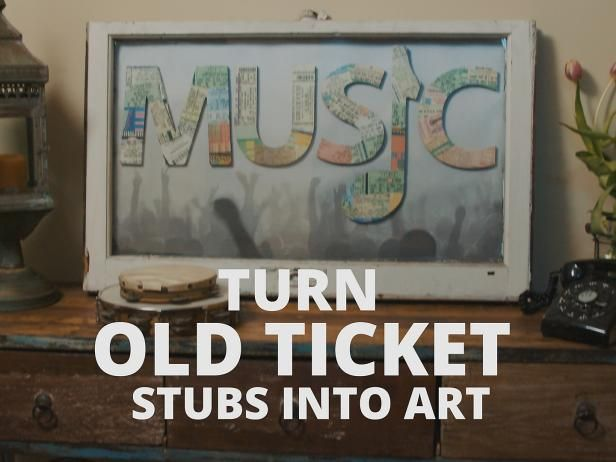 Ticket Stub Art Video | DIY Could work with theater tickets or travel tickets/maps