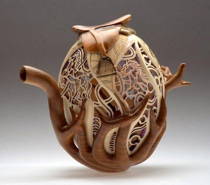 Сказочные кружевные узоры из дерева