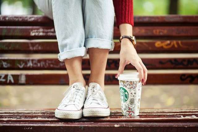 Starbucks and converse
