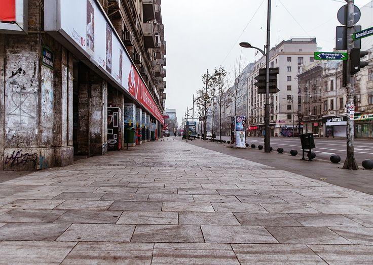 Fotografii cu pustietatea superbă din centrul Bucureștiului, de Crăciun