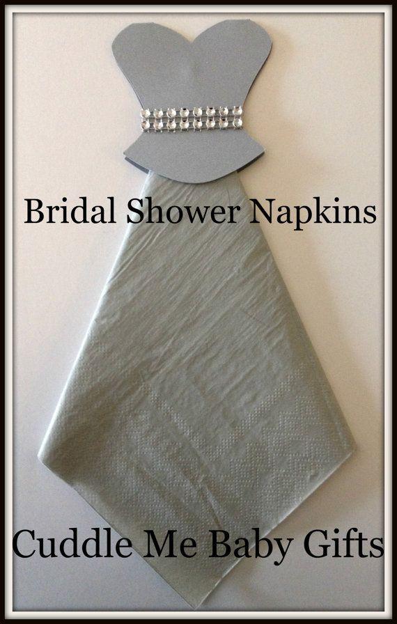Bridal Shower Wedding Dress Bling Bridal Shower Napkins