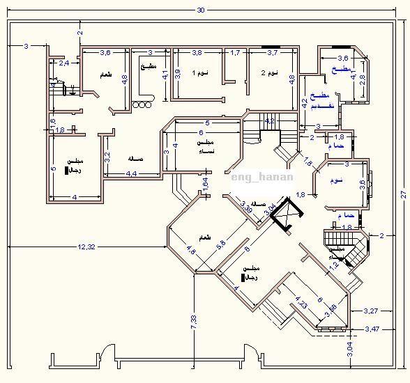 تصاميم عمارات سكنية مخططات شقق سكن رسومات منازل هندسية خرائط فلل دورين خريطة هندسية منتديات ستوب Floor Plan Design My House Plans Plan Design