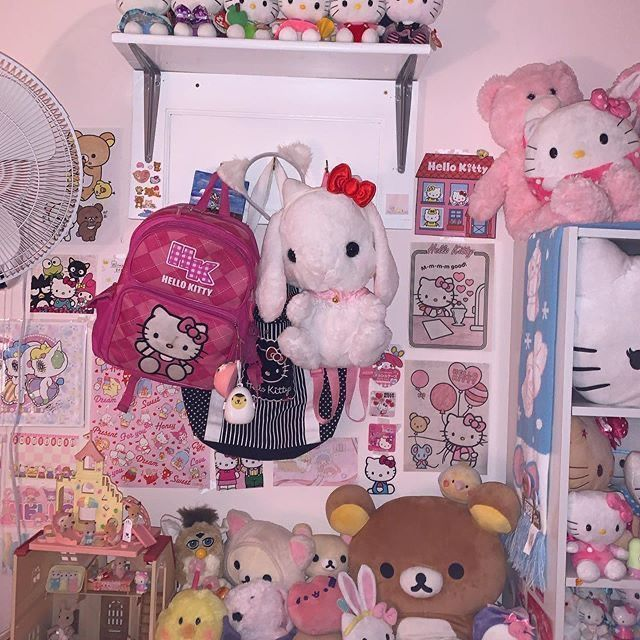 kitty aesthetic hello bedroom emo pink space rooms