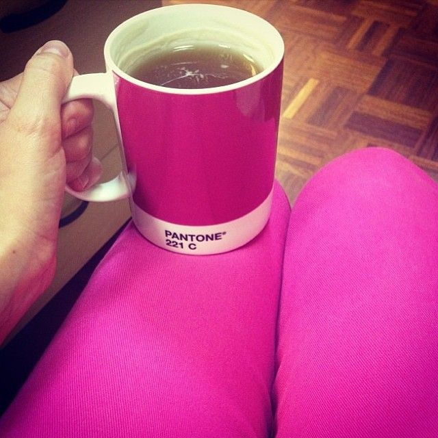 Bright Pinks radiate with high energy - like this pic from @Marta Draper Draper Policastri of her 221C mug and hot pink pants - almost a perfect match!