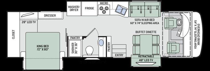 2015 Palazzo 35 1 Diesel Pusher Motorhomes Floorplan