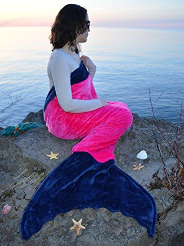 You will love this Fleece Mermaid Tail Blanket Pattern and we have included lots of free patterns plus links to purchase. Watch the video too.