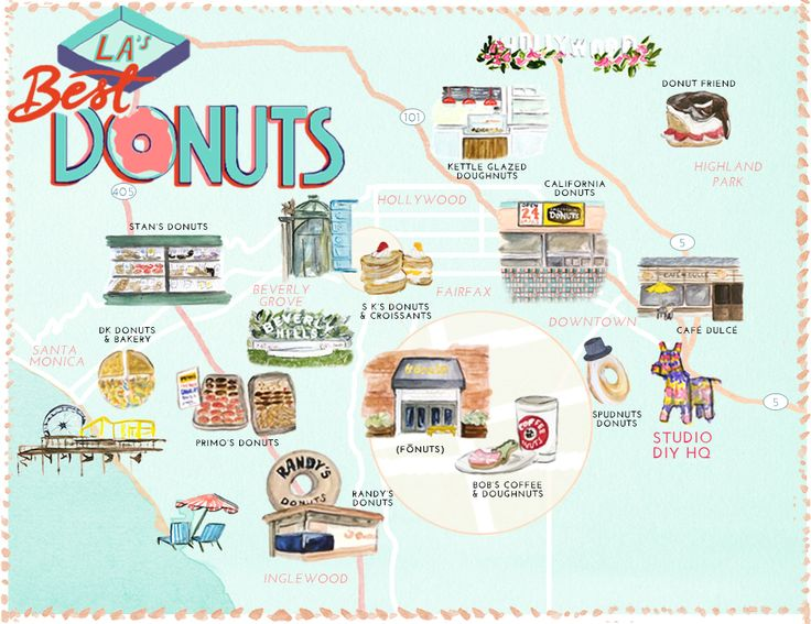 Best Donuts in Los Angeles Map (Free Printable!)
