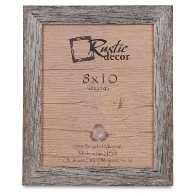 """RusticDecor Barn Wood Reclaimed Wood Standard Picture Frame Size: 10"""" H x 8"""" W x 1"""" D"""