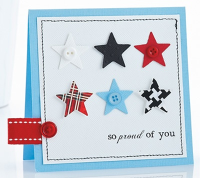 card to lift - repetitive images, such as hearts, candles, birthday cakes, etc.